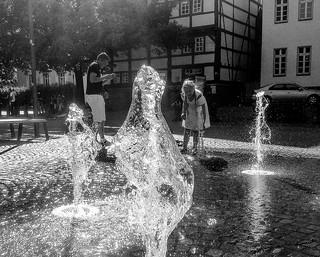 Splashing shot