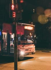 Lonely stranger (Astromanson) Tags: bus russia night dslr lightroom dark car city street streetphotography road