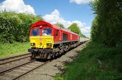 66117 - Outwoods, Hinckley - 10-05-18 (techno-phobe) Tags: outwoodshinckley outwoods hinckley train locomotive diesellocomotive freighttrain class66 shed dbs dbschenker dbcargo