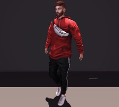 Red is The new Black. (AW02) Tags: sl secondlife photography outfit apparels clothes mixandmatch styles events tmd fashion avatar mesh blankline mossu versov stealthic hysteria