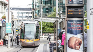 Busáras Luas Tram Stop And Some Trams [Red line Service]-140293