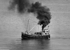 Scotland Greenock steam cargo ship VIC 32 24 May 2018 by Anne MacKay (Anne MacKay images of interest & wonder) Tags: scotland greenock steam cargo ship vic 32 clyde puffer monochrome blackandwhite xs1 24 may 2018 picture by anne mackay