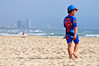 Spidey goes surfside (Roving I) Tags: boys childrenswear spiderman branding actionheroes outfits beaches barefeet walking waves whitesand redflags swimmers sea surf lifestyle danang vietnam