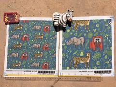 """endangered animals, black rhino, amur leopard, bornean orangutan"", 8x8"" fabric test swatches. My original design/artwork. (sassyone2013) Tags: fabric animals wallpaper wrapping illustration drawing digital art indie digitalart giftwrap wrappingpaper quilting sewing fabriccrafts amurleopard blackrhino borneanorangutan endangeredspecies endangeredanimals handdrawn animalfabric textiles textile fabricdesign decorfabric upholsteryfabric noveltyfabric noveltyfabrics cat cats rhinoceros bigcats beautifulanimals animalillustration bluefabric floralfabric indiedesign"
