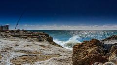 """""""A la pêche"""" - Pyla (33) (L. Castaings - Photographie) Tags: sea ciel sky mer paysage landscape soleil sun nisi canon pëche"""