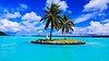 Welcome (CaptSpaulding) Tags: color contrast clouds borabora island sky sunset sea sand flowers flower flora church water waves shark fish batray rain rainbow building buildings beach blue boat samsung tree ocean tropical bay