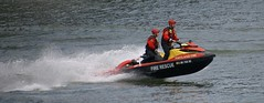 Fire & Rescue (Scott 97006) Tags: river craft jetski firedept rescue training mission water wet spray