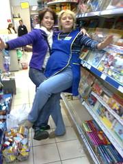 Sally and I (taya-ognevaya) Tags: work friend me hugs