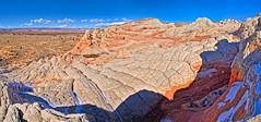 White Pocket Panorama (William Horton Photography) Tags: arizona navajoformation navajosandstone nikon northcoyotebuttes page pariacanyon vermillion brainrock color geology geologyvertical orange outdoors sandstone scenic spring