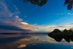 Morning (alain_did) Tags: sunrise morning clouds sun réflections water guyanefrancaise amazonia saintlaurentdumaroni