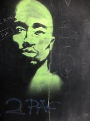 2 Pac (katerinaj21) Tags: 2pac rapper boyznthehood rap graffiti spraypaint switzerland lugano luganoswitzerland tunnel