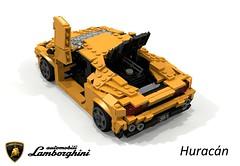 Lamborghini Huracán (2014) (lego911) Tags: lamborghini huracan huracán 2014 2010s coupe sportscar supercar v10 vag awd italy italian auto car moc model miniland lego lego911 ldd render cad povray