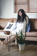 DSC_9772 (yushicheng) Tags: home lifestyle sofa life living livingroom room girl portrait portraiture auckland newzealand interior interiordesign plant nikon nikond810 d810 dslr