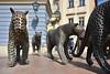 D71_7566A (vkalivoda) Tags: cheetah směčka pack sculptures brno michalgabriel sousoší gepard kočky cats