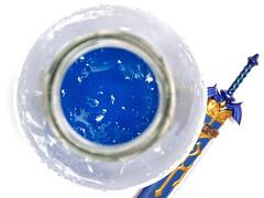 Blue Chu Jelly (hongzhizhu) Tags: loz legendofzelda twilightprincess agaragar agaragarjelly beverage drink figma