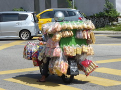 Heavy Transport (m_artijn) Tags: bike motor candy sweets scooter heavy transport pedastrian crossing kuala lumpur mys