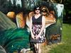 Frog and flowers (blackietv) Tags: casual black floral summer dress tgirl transvestite crossdresser crossdressing transgender outside outdoor
