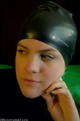 Portrait with black swimcap (monotematico) Tags: retrato retratofemenino rostro cap capped coveredhead composition cara negro nohair noir nero bathingcap badekappe black bonnet blackbackground female femaleportrait femalemodel femme femenino fondonegro face visage portrait persona pose posing portraitobsession swimcap swimmingcap swimhat headgear hat hairless indoor interior individual interesting