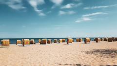 Dahme Beach (Danjo0511) Tags: dahme ostsee germany strand beach strandkorb strandkörbe bluesky himmel sand sandstrand sun sunset paradise lightroom handygedöns