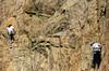 Climbing wall (Fr Paul Hackett) Tags: climbers rock wall ropes lacdesgaillands chamonjx