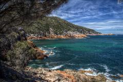 Sleepy Bay (pbr42) Tags: australia tasmania freycinet freycinetnationalpark nationalpark hdr water h2o coast beach outdoor cloud landscape nature rock bay