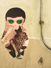Girl of the Moment (david ross smith) Tags: paris france graffiti art ad poster sign signage 11tharr 11tharrondissement text