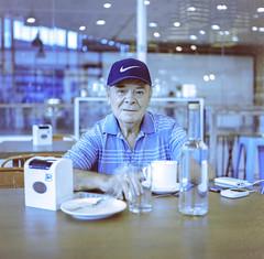 Coffe Shop Talk, 2018 (Sly Panda) Tags: sly panda coffee shop 120 film travel portraint photography philipines expat