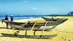 Sri Lanka Outrigger Boats (gerard eder) Tags: world travel reise viajes asia southasia srilanka ceylon beach strand playa paisajes panorama boats boote barcas outriggerboats bentota