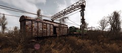 Train to nowhere (Den7on) Tags: stalker call pripyat chernobyl outdoor disaster nuclear power plant morning zone tower sky