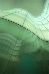 waves (Bernergieu) Tags: italy italia architektur milano art mailand kunst green grün glas glass mudec museum mint lookingup