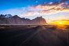 Iceland Stokksnes Beach Sunrise Sunstar (www.mikereidphotography.com) Tags: sunstar zeiss iceland beach landscape dunes sony a7r2