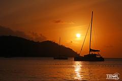 Sunset Praslin (morbidtibor) Tags: africa seychelles beach praslin anse lazio anselazio sunset sailboat boat