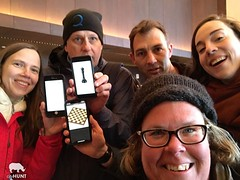 NYC Scavenger Hunt Photo (realcityhunt) Tags: selfie grouppicture cellphone phone chess smile fun women men game glasses hat jacket ladies challenge scavengerhunt pose nyc newyorkcity teamwork teambuilding corporateevent cityhunt
