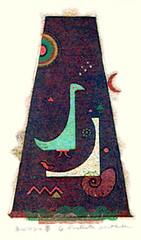 Unknown bird (Japanese Flower and Bird Art) Tags: bird masao ohba modern screenprint print japan japanese art readercollection