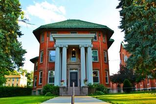Binghamton New York - Westside Mansion - Greek Architecture - River Street Historic District