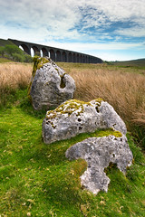 Not Your Typical Ribblehead (Dean Conley) Tags: ribblehead ribbleheadviaduct nikond3400 d3400 tokina tokina1120mm leefilters lee09hardgnd rock rocks moss grass green sky clouds bricks manmade england tripod lightroom flickr