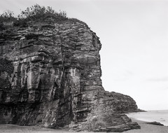Head (GrisFroid) Tags: landscape headland rocks cliff shore coast land 4x5 largeformat ilford delta