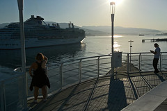 Coral Princess arrival (wfung99_2000) Tags: coralprincess vancouver canadaplace britishcolumbia canada sunrise arrival cruise ship shadows