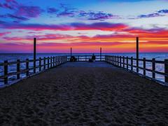 Pier Colours (RP Major) Tags: pier colours clouds beach sky sunset mentone melbourne victoria australia fishing fisherman landscape night