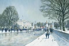Colin W. Burns «Buckingham Palace» (Gostya) Tags: art paintings улица colinburns лондон зарубежныехудожники colinwburns архитектура живопись паркиискверы городскойпейзаж