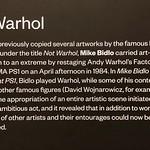Not Warhol by Mike Bidlo thumbnail