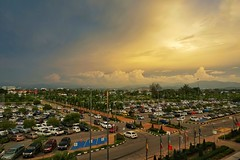 parking lot at Kota Kinabalu International Airport (ilok_z) Tags: sony a6000 landscape parking airport sunset cloud car alpha