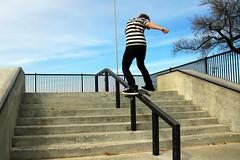 138164414 (aydenjamieson) Tags: action awe challenge courage extremesports men midadultmen oneperson onlymen people plank railing skateboard skateboardpark skateboarding slide sport stunt youngmen boardslide dude railslide