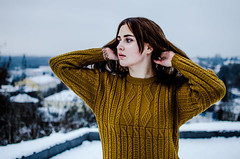 Daria Gladchenkova (ivan_volchek) Tags: winter cold outdoors snow nature people portrait leisure sky sweater fall wear season landscape park beautiful eyes hairstyle girl