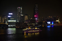 View of Hong Kong Harbour at Night from Renaissance View Hotel - Hong Kong (mbell1975) Tags: hongkong hongkongisland hk view hong kong harbour night from renaissance hotel sra china marriott city lights light skyscraper skyscapers office buildings building water bay harbor sea skyline boat vessel ship cruiseship cruise victoria 香港