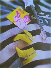 Sunday (BLACK EYED SUZY) Tags: home fender guitar zebra yellow boots sunday vinyl brianjonestownmassacre
