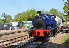 Empress arriving at Isfield station (davids pix) Tags: empress bagnall 060 saddle tank preserved steam railway locomotive industrial national coal board cadley hill colliery isfield lavender line 2018 07052018