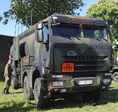 Army Tanker (Schwanzus_Longus) Tags: delmenhorst german germany modern vehicle military army bundeswehr truck lorry tanker iveco trakker coe cab over engine