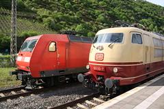Line-up 145 & 103 te Cochem (vos.nathan) Tags: db deutsche bahn bundesbahn museum koblenz br 103 baureihe 113 dbc cargo 145 028