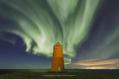 Hólmbergs Viti (Kjartan Guðmundur) Tags: iceland ísland auroraborealis northernlights norðurljós nightscape nocturne ngc nightphotography stars sky ocean clouds sigma14mmf18art canoneos5dmarkiv kjartanguðmundur